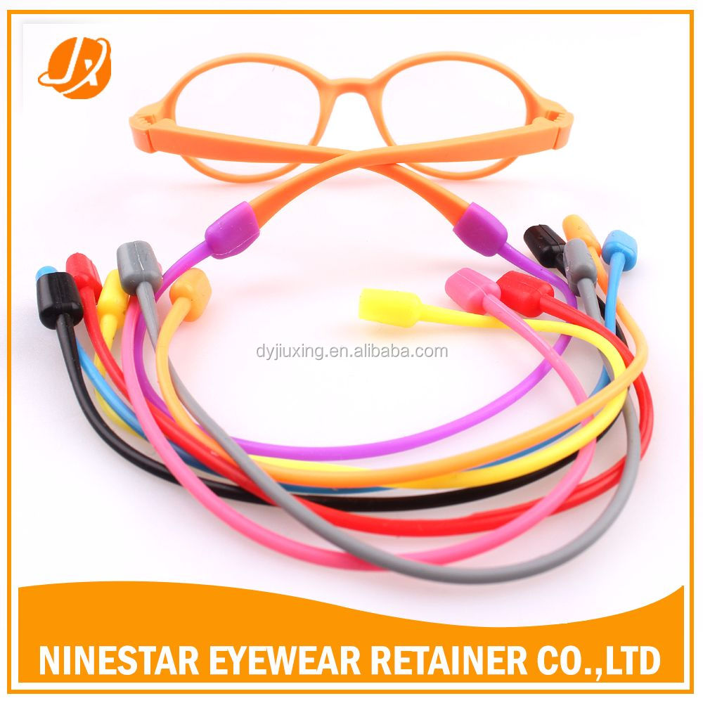 Rubber Tube reading glass cord retainer silicone glasses strap holder