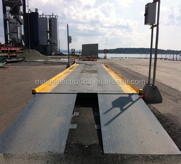 3*24m Portable Moveable Mobile Electronic Digital Weighbridge Truck Weighing Scale Wagon Balance Weighing Machine With Ramps
