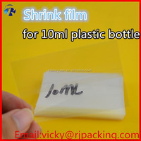 heat shrink wrap/e liquid wholesale/shrink wrap for glass dropper bottle and plastic bottle