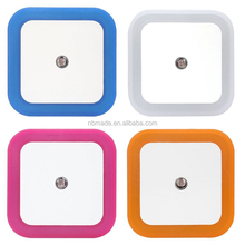 Mini LED 0.5W Light Control Auto Sensor night light Baby Bedroom Lamp square LED night light