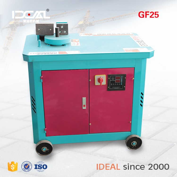 GF25 digital control CNC automatic construction site automatic rebar bending machine used
