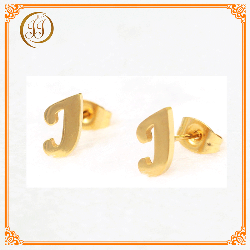 Men And Women Accessories Jewelry Good Quality Stud Earing Simple Letter j Shaped Earrings