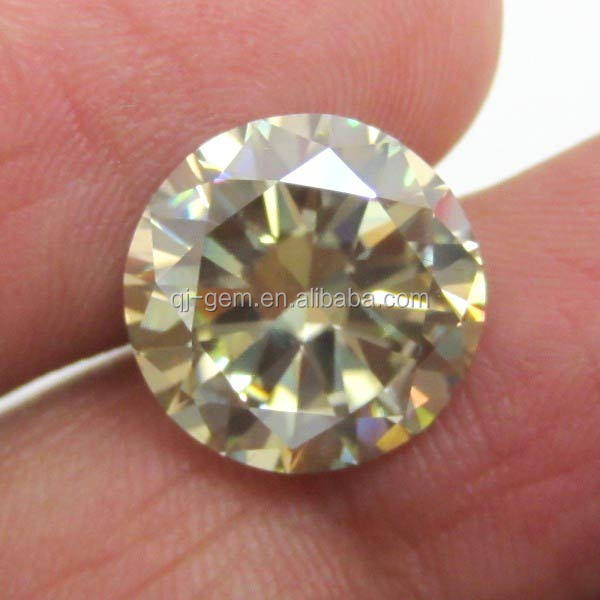 wholesale round brilliant cut yellow 6.5mm synthetic moissanite gemstone