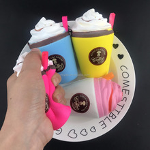Jumbo Ice Cream Coffee Cup Squishy Cute Kid Toys Slow Rising Stress Stretch Bread Soft Squeeze Gift Phone Straps