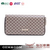 Unisex double zipper handbag top qulity BSCI factory wallet
