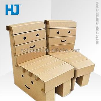 Low Price Cardboard Folding Chair Custom Design Paper