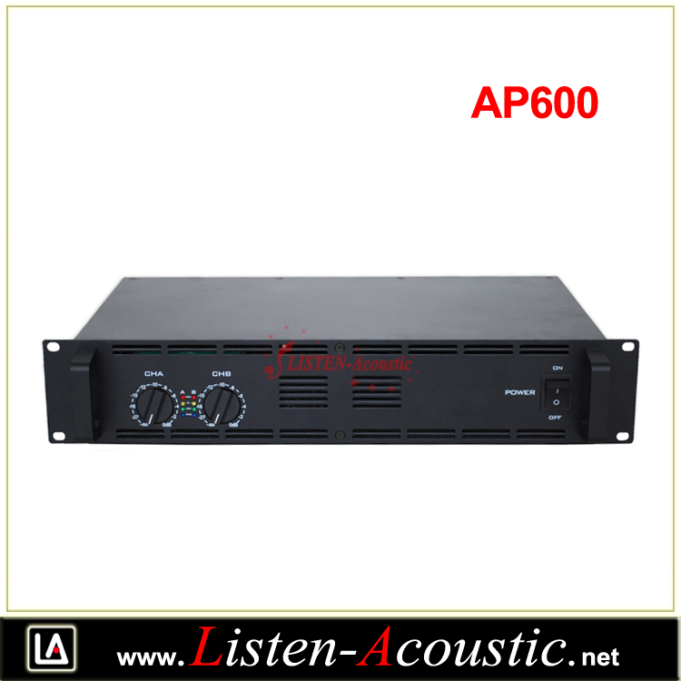 AP-600 2*300W 2U Professional Power Sound Amplifier