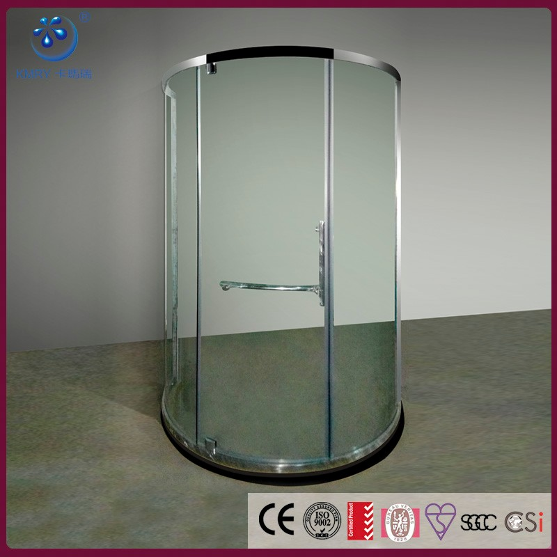 Round Shower Cubicle Stylish Curved Glass Shower Screen Factory KT8105
