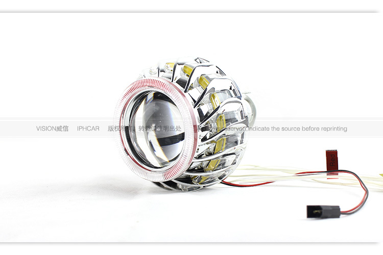 New Arrival Auto Headlamp Double CCFL Angel Eyes 2.5inch Ultimate Hid H1 Projector Bi Xenon Projector Light
