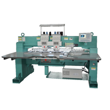 Industrial Digital Computerized CE Certificate high speed 2 head 15 needles flatbed cap embroidery machine for sale