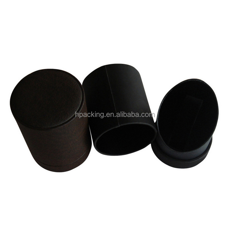 Cylindrical Cardboard Packaging Commemorative Coin Box Coin Display Box