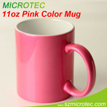 Hot Pink 11oz disposable hot cups pink