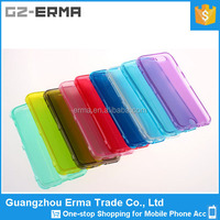 Ultra Thin Clear Full Body Protect Soft Gel TPU Flip Cover for iphone 6 plus case