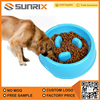 Wholesale Portable Slow Feeder Plastic Pet Dog Food Bowl