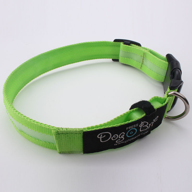 New creative motion blinking safety accessories personalized diy decorative logo printed pet led collar