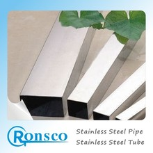 ASTM A554 stainless sanitary square pipe,304 stainless steel square pipe hairline finish,304 square steel pipe for door and wind