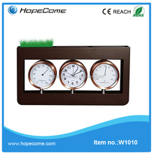 (W1010) Wooden travel weather station alarm clock / travel weather station and alarm clock