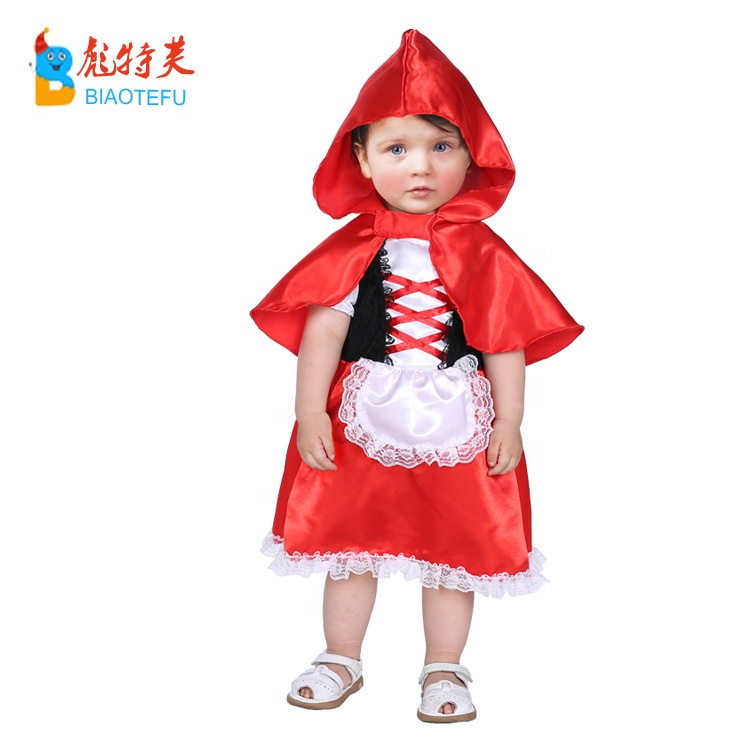 high quality new born baby toddlers girl anime little red riding hood cosplay fancy dress costumes