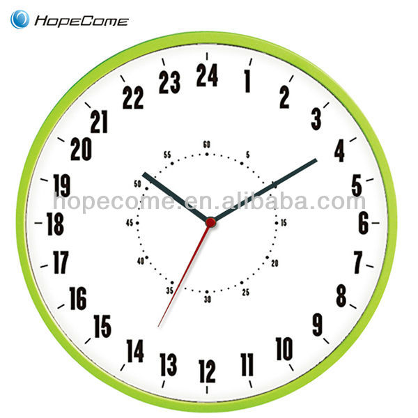 Glow in the Dark 24 Hour antique swing Intelligent Musical Wall Clock
