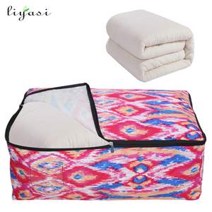Dustproof reusable large high quality household bedding use clothing quilt storage bag with zipper