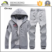 Custom made sweat suits/plain sweat suits men
