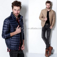OEM Wholesale New Winter Men's Ultra Light Weight down jacket Duck Down Padded Puffer Parka