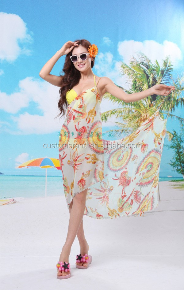 2016 New Summer beach dress cover up sarong pareo .