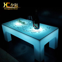 Hot sale Rechargeable Led Light Coffee Table / Modern Coffee Table