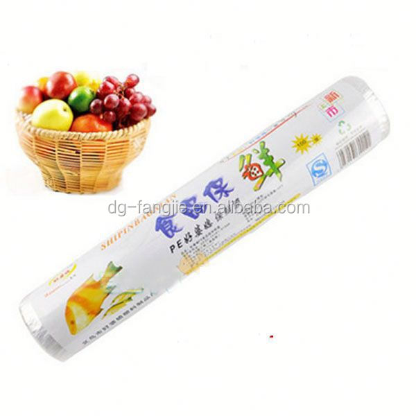 Large Roll 100% PE Food Wrapping Cling Film Jumbo Rolls