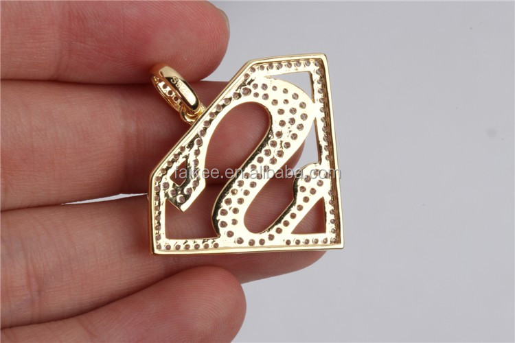 Fashion 925 sterling silver hip hop super men pendant jewelry