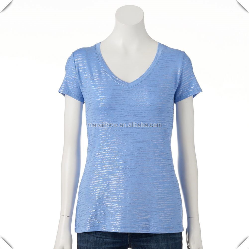 Oem service wholesale 100 polyester burnout clothing for Where can i buy t shirts in bulk for cheap