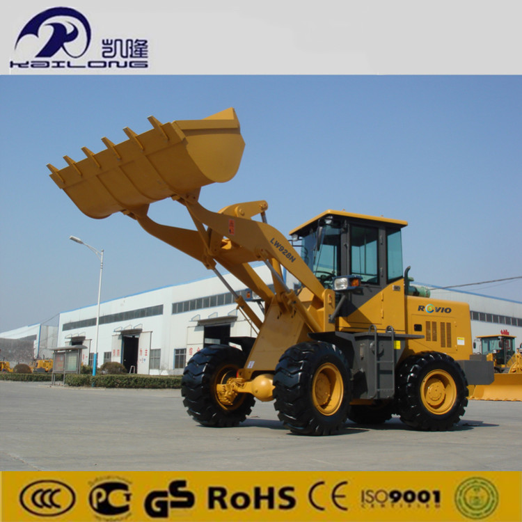 Cummin s Engine 1m3 Bucket 2 Ton Mini Wheel Loader With CE