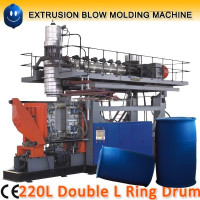 220L plastic blue drum hdpe blow molding machine