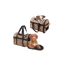 Promotional soft fabric convenient square luxury dog carrier pet bags