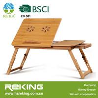 Bamboo Laptop Cooling Desk Adjustable