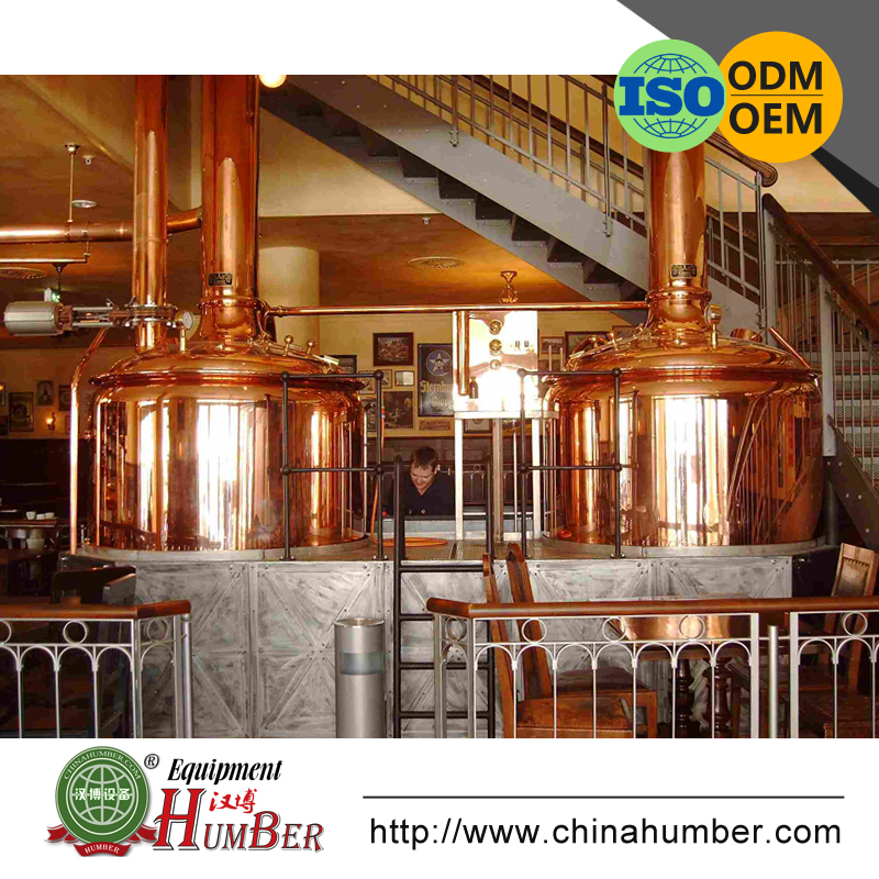 1000L Beautiful used copper beer brewery equipment