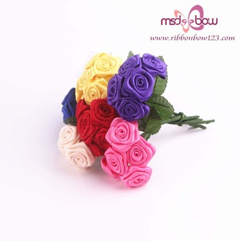 Decorative Flowers & Wreaths Type and All festival Occasion ribbon rose flower