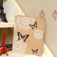 New Qrrival Custom Printed retail kraft paper bag with window