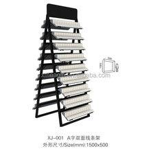 Double side quartz stone,marble sample display rack