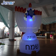Light Inflatable Nine Candlesticks for Hanukkah Decoration