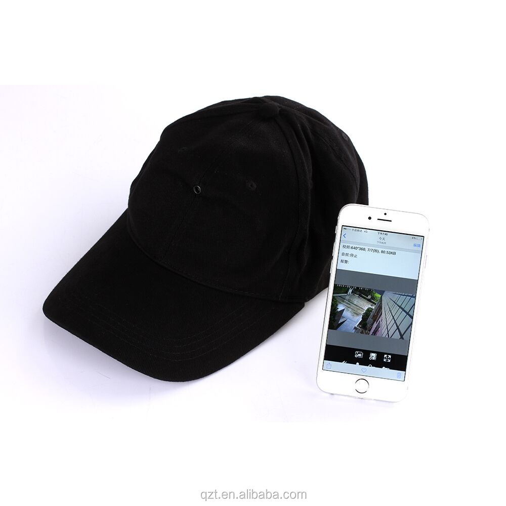 2017 New arrival HD <strong>1080P</strong> spy cap camera wifi with remote detection hidden cap ip camera