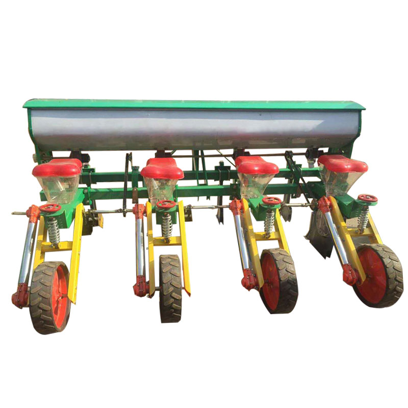 Low price walking tractor beans cotton corn seeder