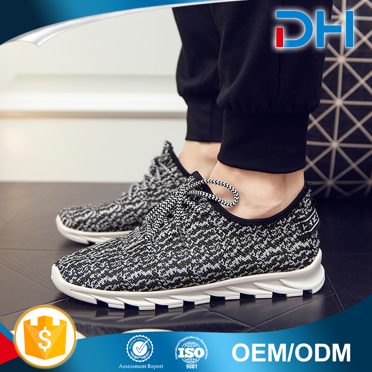 Hot selling new model lace-up sport best mesh casual shoes men 2017