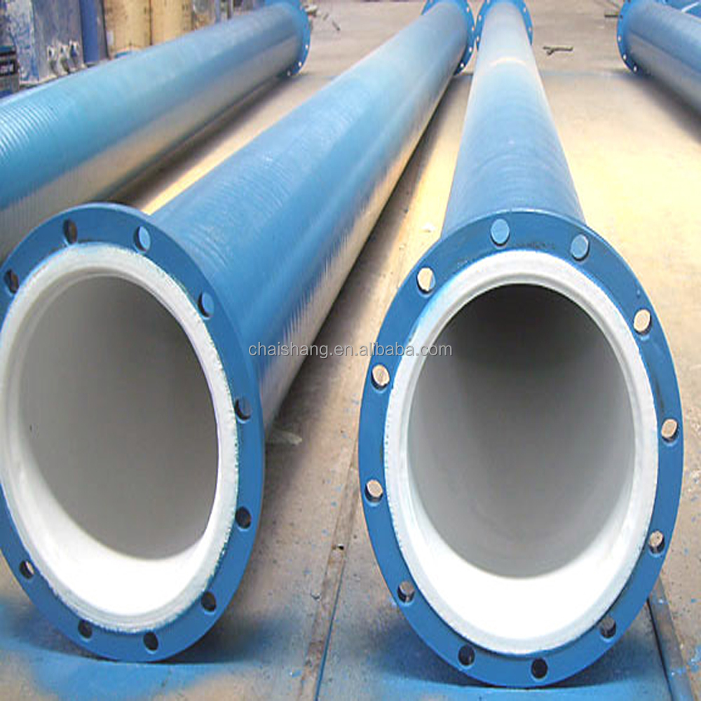 Polyurethane Wear Lined Pipeline use for transfer Grinding particles and Corrosive media