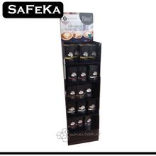 Custom Printed Black Fashion Corrugated Cardboard Box coffee retail display