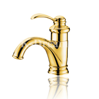 bathroom hot and cold water control brass golden bathroom taps