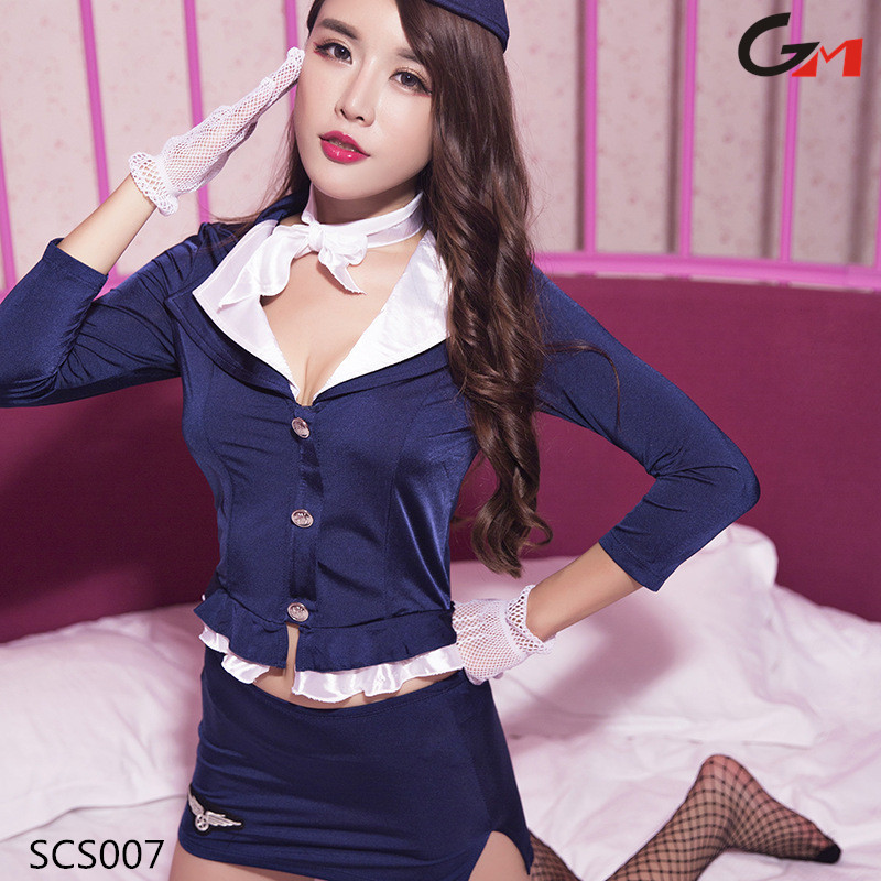 side slits women ladies night Maid Sexy Lingerie Bar Servant Dress Uniform