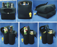 Neoprene wine/beer bottle cooler holder bag