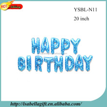 Wholesale 16 inch Bargain happy birthday balloon set blue