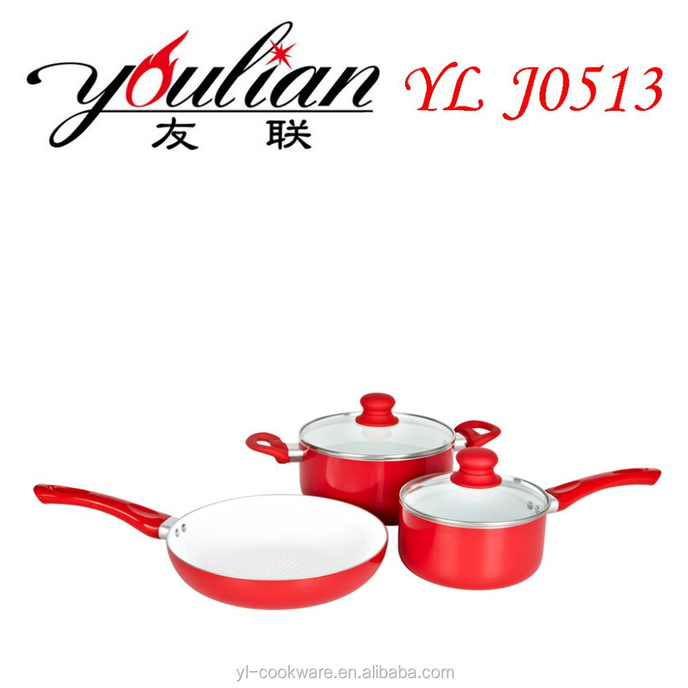 2015 best selling hot cookware set ceake pan 5 piece aluminum ceramic health living non stick buy as seen on tv pans